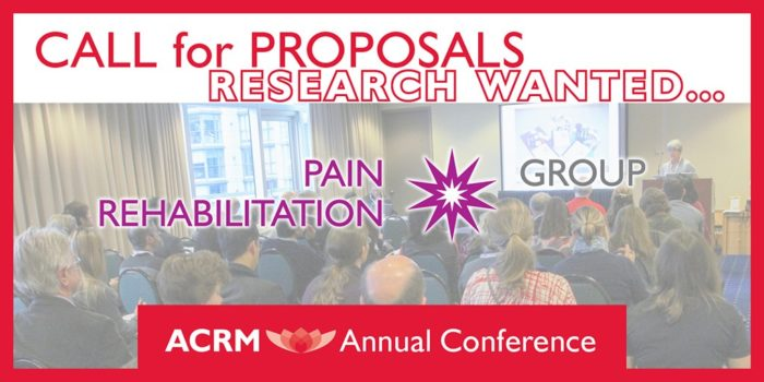 ACRM Annual Conference Call for Proposals