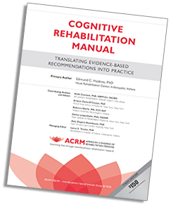 ACRM Cognitive Rehabilitation Manual cover