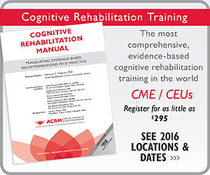 CLICK to2016 Cognitive Rehabilitation Training Locations