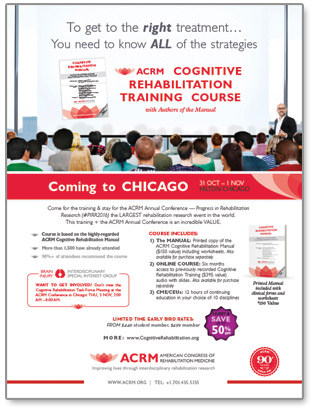 Click to View/Share Cognitive Rehabilitation Training Flyer