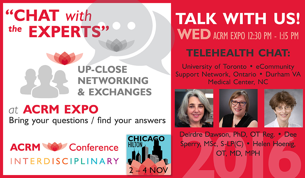 Chat with the Experts: Telehealth Chat: WED 12:30 - 1:15 PM