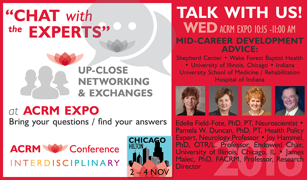 Chat with the Experts: Integrating Clinical Practice & Research: WED 1:15 PM - 2:00 PM