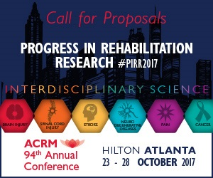 ACRM Conference Progress in Rehabilitation Research (PIRR) Call for Proposals