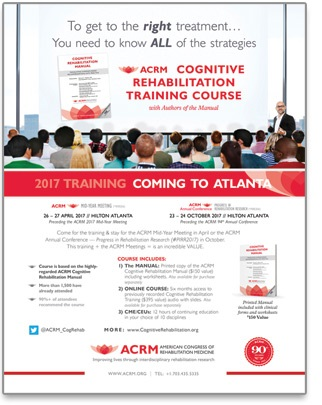 Click to View/Save Cognitive Rehabilitation Training Flyer