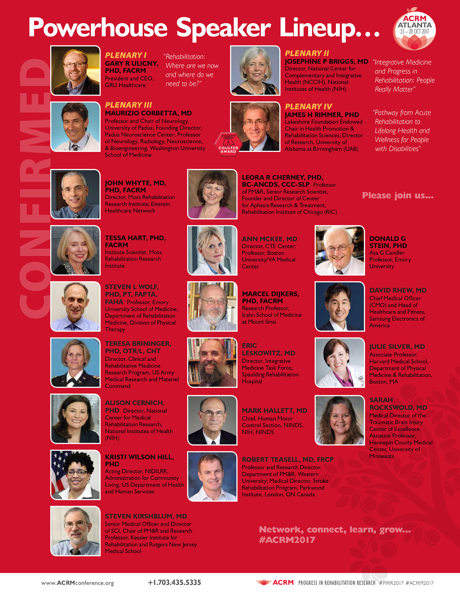 Rock Star Faculty 2017 ACRM Conference