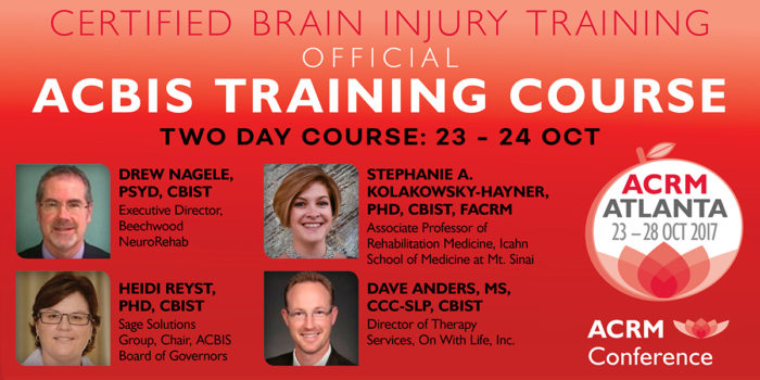 ACBIS Training Course at ACRM Conference 2017