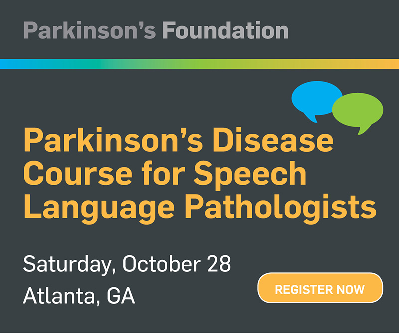 Parkinsons Course for SLPs at ACRM Conference
