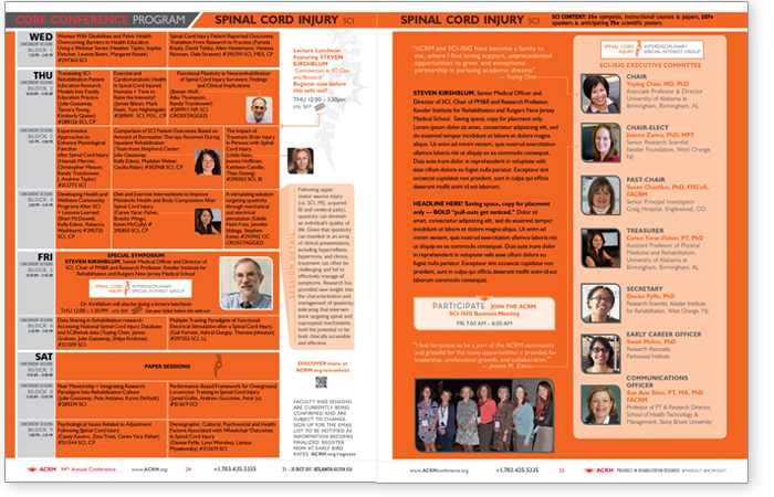 Spinal Cord Injury Content Brochure