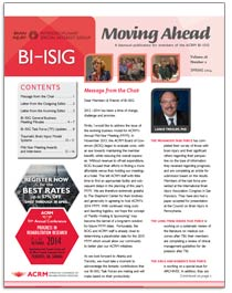 ACRM BI-ISIG Moving Ahead Newsletter