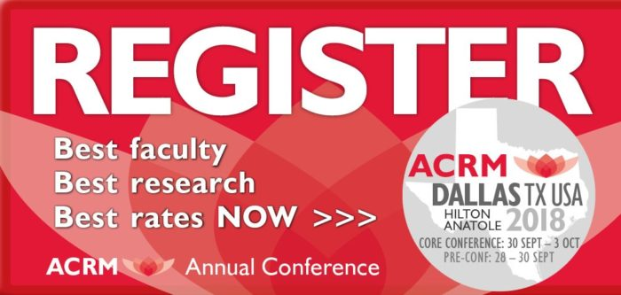 Click to Register Now for the ACRM Annual Conference