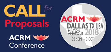 Submit to ACRM 2018! Deadlines here...