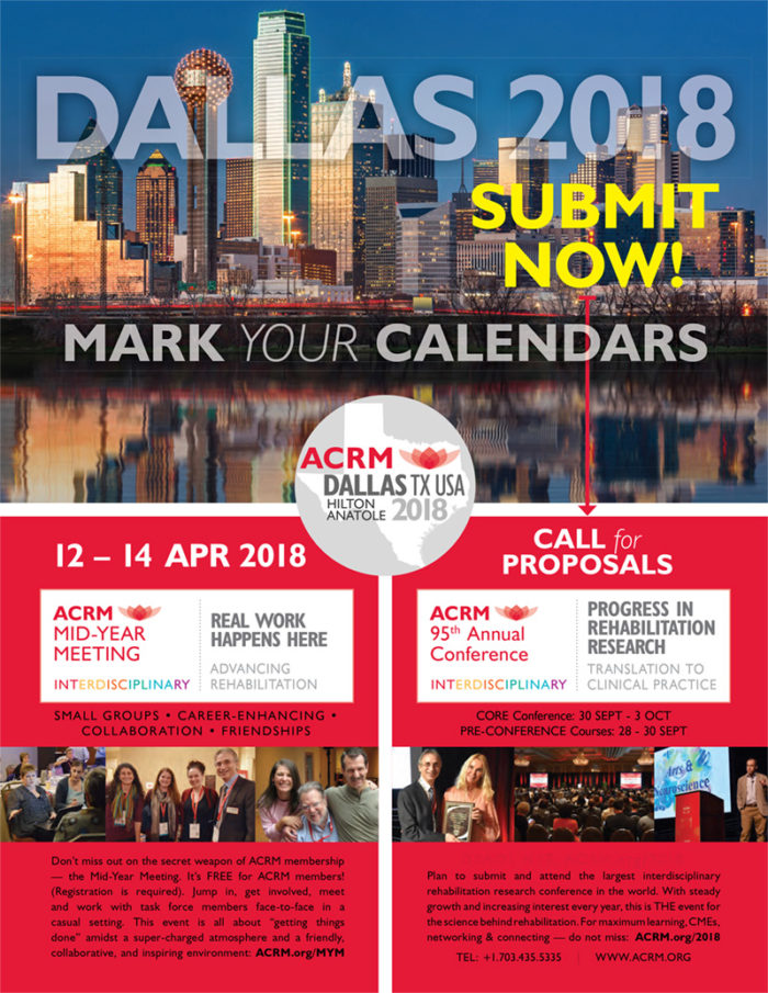 DALLAS 2018 ACRM Meetings