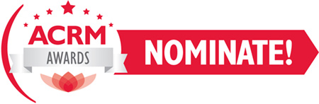 ACRM AWARDS NOMINATE button graphic