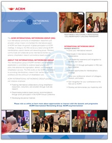 Click image for ACRM International Networking Group brochure
