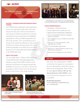 Click to view the ACRM Military/VA Networking Group brochure