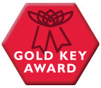 Gold Key Award hexagon