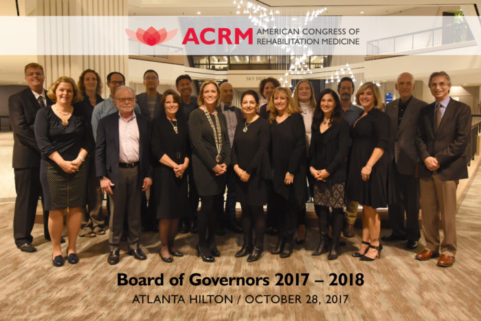 ACRM Board of Governors 2017 - 2018 / Atlanta Hilton / October 28, 2017