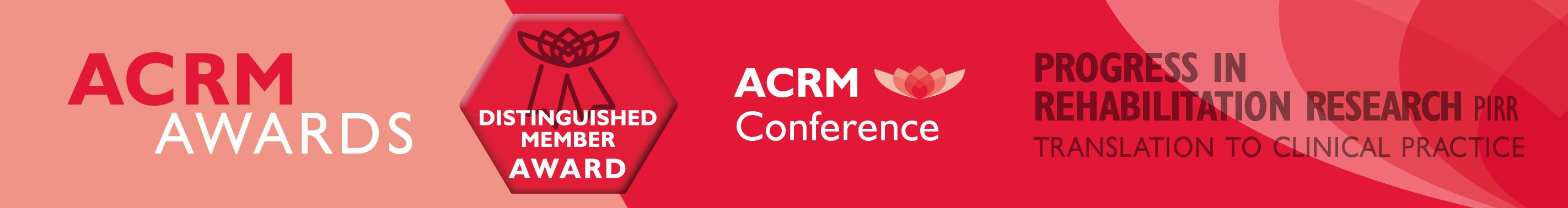 Distinguished Member Award ACRM Award
