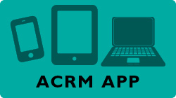 Links to information and downloads for the ACRM conference mobile app.