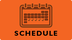 Schedule button. Links to the full conference schedule.