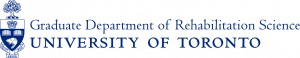 Graduate Department of Rehabilitation Science, University of Toronto logo