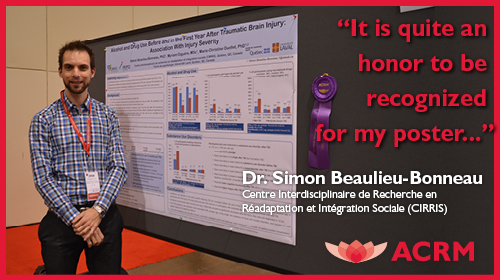Poster Award Winner, Dr. Simon Beaulieu-Bonneau