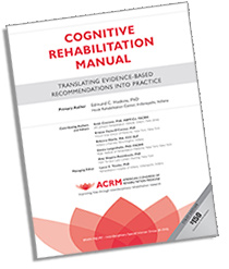 ACRM Cognitive Rehabilitation Manual Cover Image
