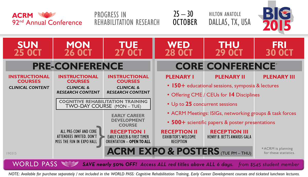 2015 Conference At-A-Glance
