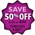 SAVE through 8 SEPT