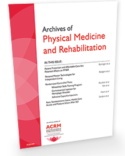 ARCHIVES of PM&R - The most-cited journal in Rehabilitation