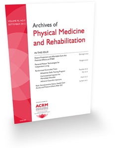The ACRM scientific journal, Archives of Physical Medicine and Rehabilitation