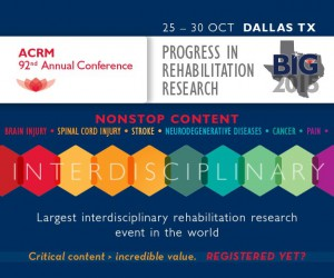 ACRM 92nd Annual Conference, Progress in Rehabilitation Research