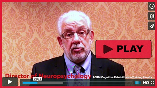 Dr. Keith Cicerone describes the two-day Cognitive Rehabilitation Training