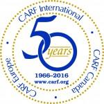 CARF International 50th Anniversary Logo