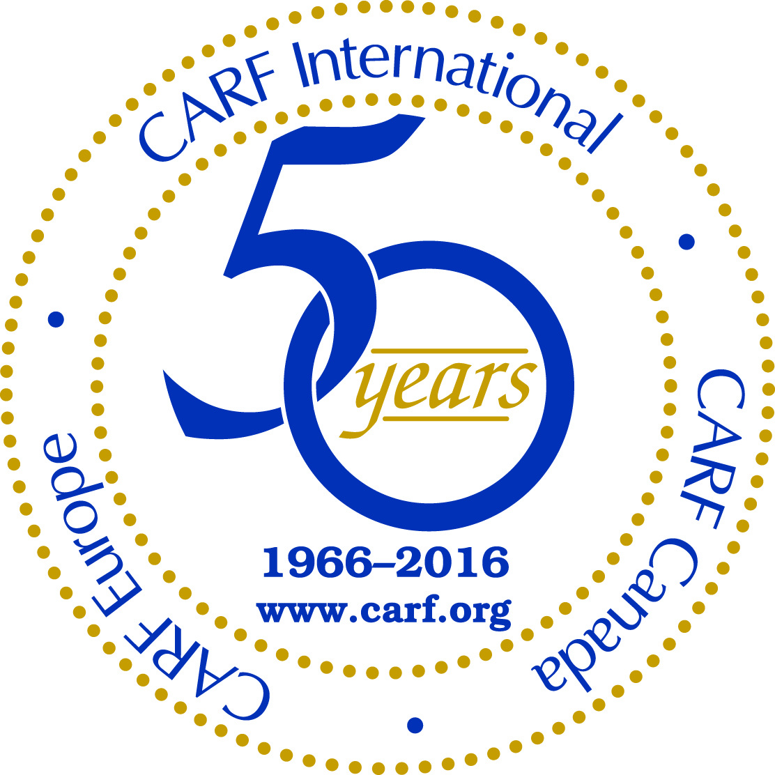 CARF International 50th Anniversary Logo