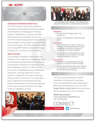Click to View ACRM Technology Networking Group Brochure