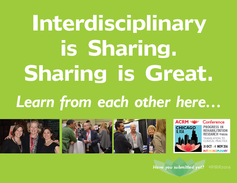 Interdisciplinary is Sharing. Sharing is Great. Learn from each other here…