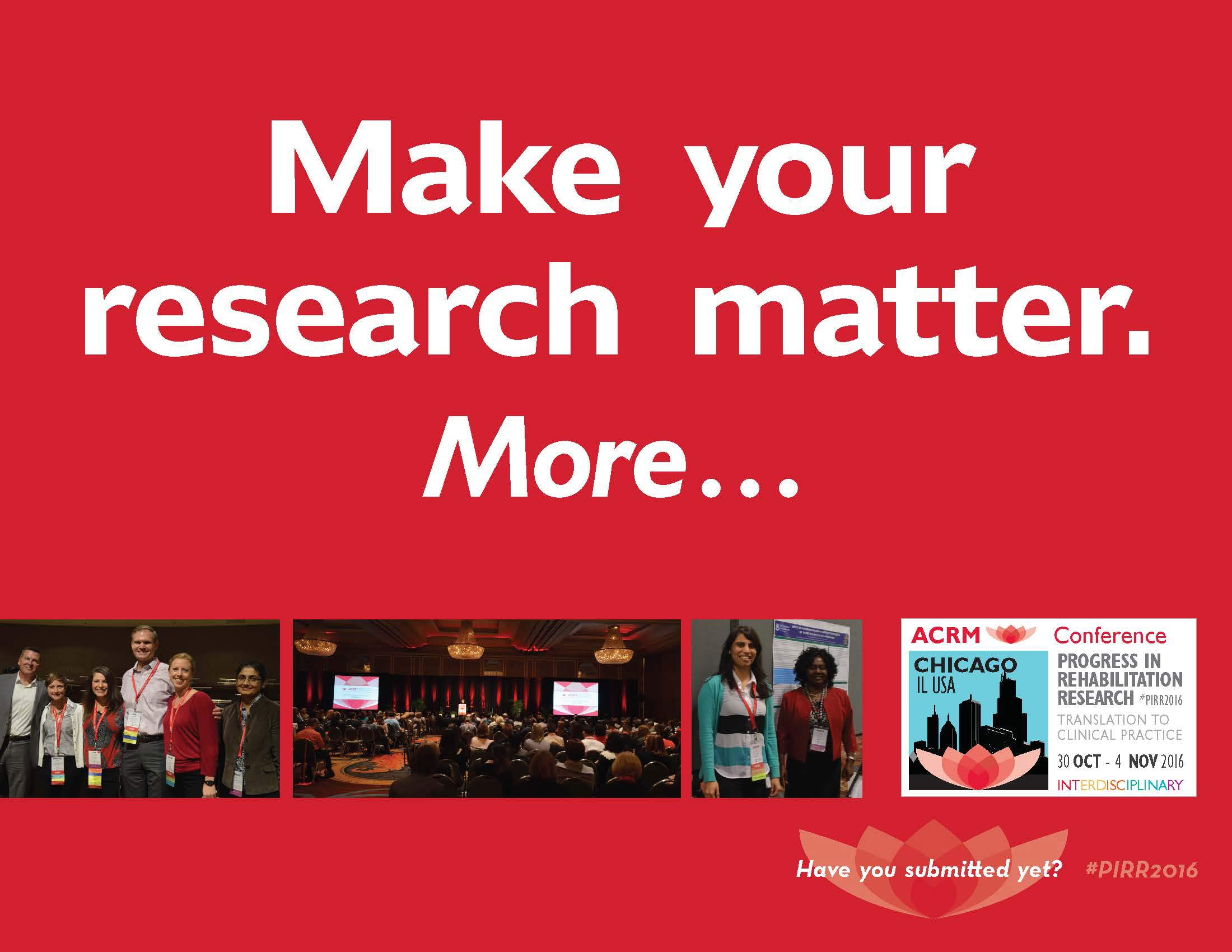 Make your research matter. More…