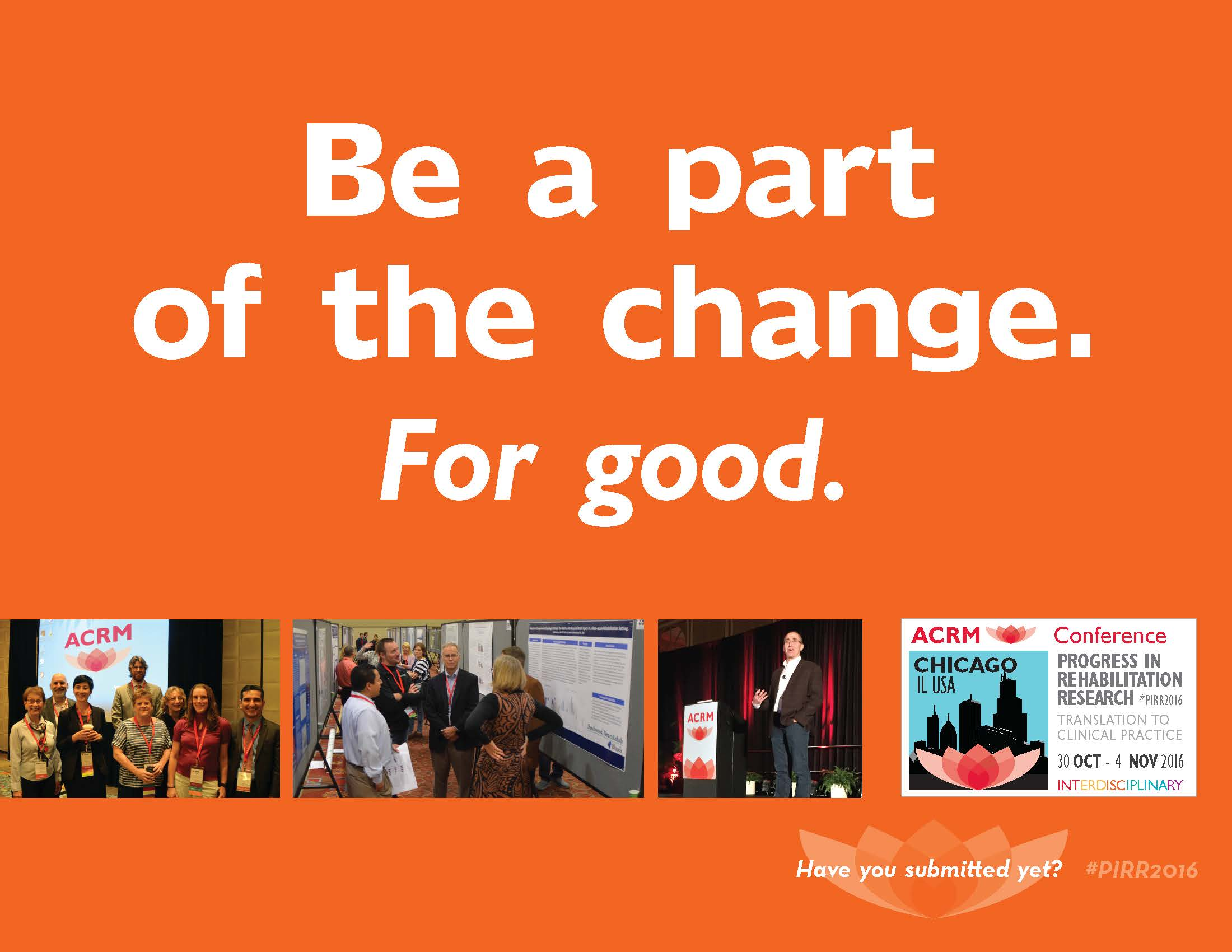 Be a part of the change. For good
