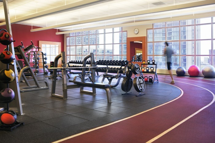 Hilton Chicago Weight Room with Indoor Track
