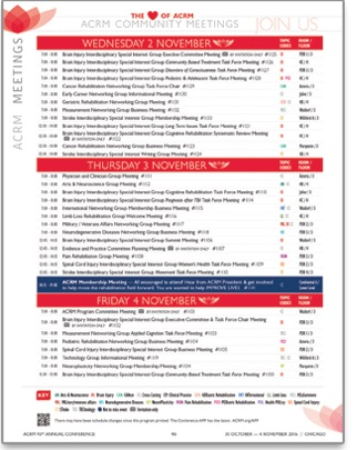 CLICK Image to View all ACRM Group Meetings Scheduled during the Annual Conference
