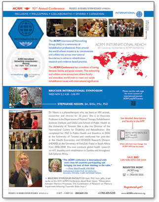 Click to View International Content at the ACRM Annual Conferernce