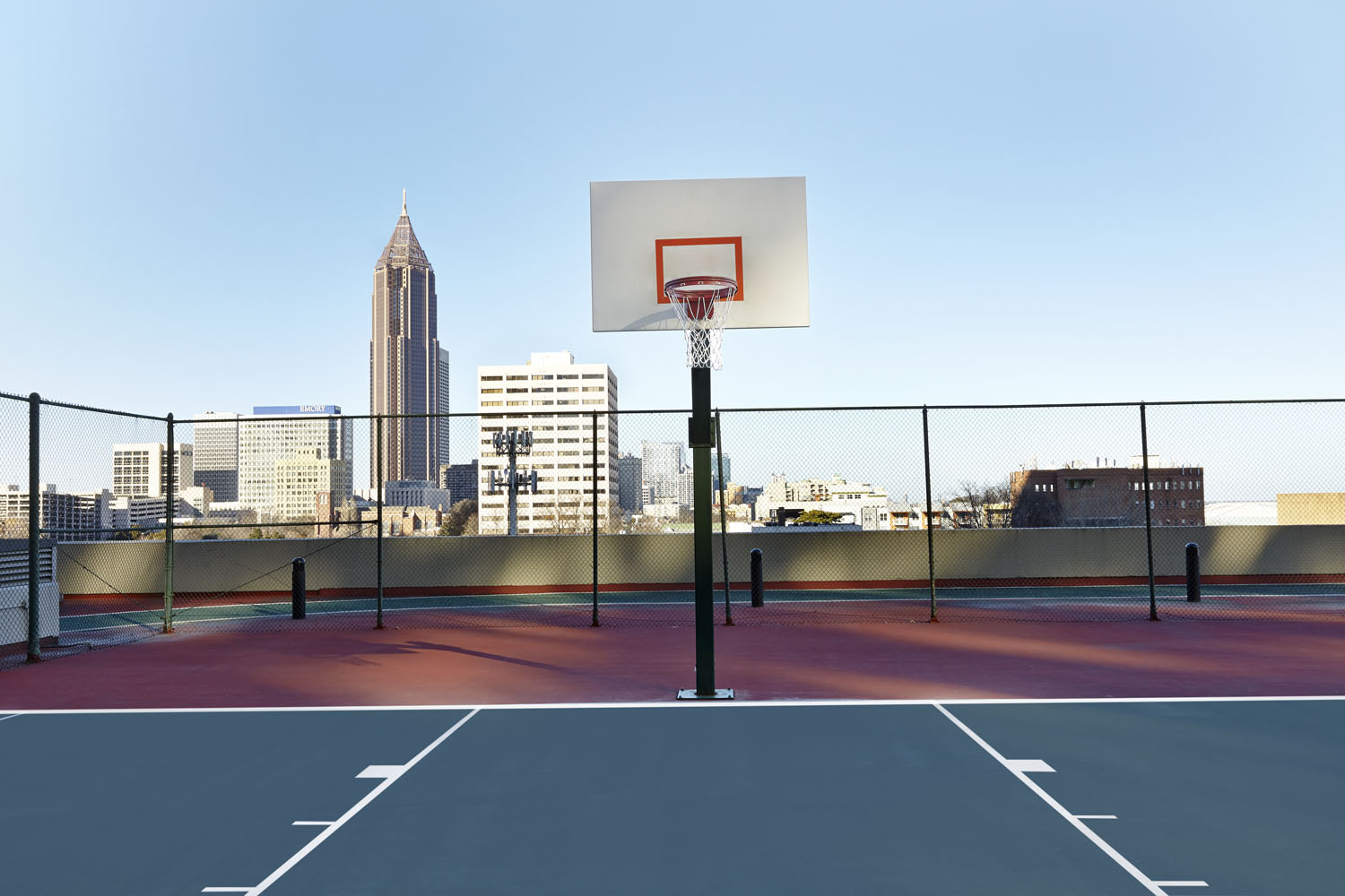 Hilton Atl rooftop Basketball court & running track