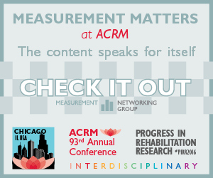 Measurement Content at the ACRM 2016 Annual Conference