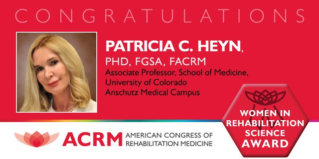 ACRM Women in Science Award recipient Patricia Heyn
