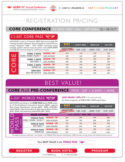 ACRM Conference rates sheet thumbnail