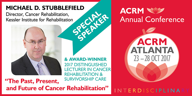 ACRM SPECIAL SPEAKER: Michael D. Stubblefield Cancer Award Winner