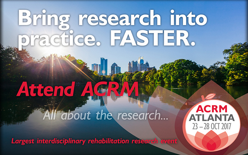 Bring research into practice. FASTER. Attend ACRM. All about the research