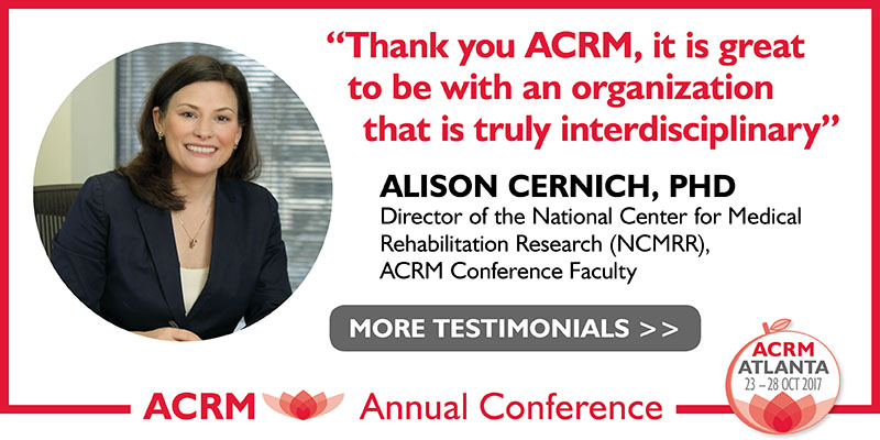 Alison Cernich: ACRM Conference Progress in Rehabilitation Research (PIRR) #PIRR2017 ATLANTA HILTON