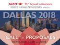 Call for Proposals: ACRM Conference 2018 DALLAS